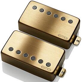 【レビューを書いて次回送料無料クーポンGET】EMG 57/66 set BRUSHED GOLD [並行輸入品][直輸入品]【新品】【ギター用ピックアップ】【RCP】