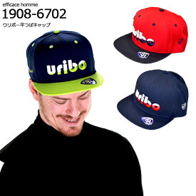 URIBO平つばキャップ efficace-homme エフィカスオム エフィカスゴルフメンズ ゴルフウェア 帽子 ゴルフ サンバイザー キャップ メッシュ 日差し避け フリーサイズ 大きいサイズあり 秋冬 ウール混