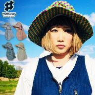 モンクワ monkuwa Wガーゼワークハット MKS20203 日よけ帽子...