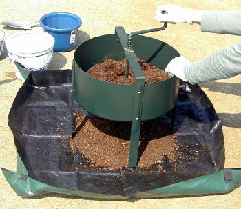 古土再生!園芸土のリサイクルでエコ*ロータシーブ回転式用土分別器No.124*花壇鉢プランター腐葉土堆肥