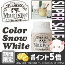 【あす楽対応】 [ターナー色彩] 水性 ミルクペイント 200ml スノーホワイト *【DIY ペンキ 塗料 木材 板 紙】