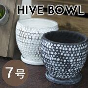 【あす楽対応】[Y'sSPACE]ハイブボール2色穴あり受け皿付き【植木鉢陶器鉢鉢カバーオシャレおしゃれフラワーポット植物観葉植物】