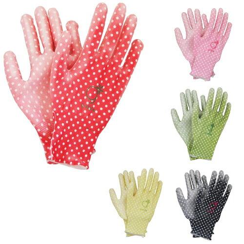 【あす楽対応】アトム g-style PUキュート ドット柄 G3 S-Mサイズ 全5色【ATOM レディース 農業女子 手袋 グローブ ガーデニング 園芸 農作業 おしゃれ 可愛い 母の日 プレゼント ギフト】