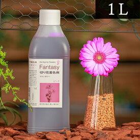 パレス化学 切花着色剤ファンタジー 1L ピンク 茎 生花 ディスプレイ デコレーション フラワーアレンジ 植物 染色 染色液 園芸 ガーデニング 自由研究 実験 プリザーブド 手作り DIY インテリア ハーバリウム 染める パレス化 Z