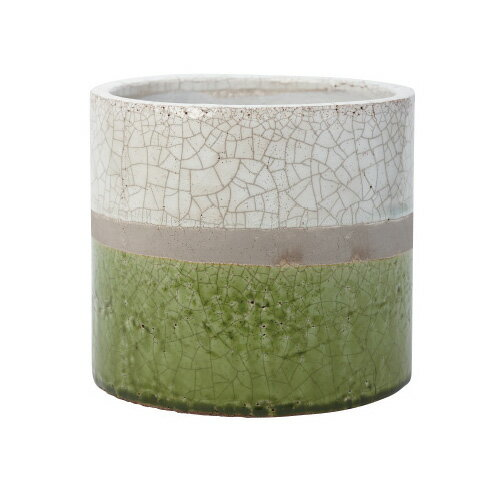 【あす楽対応】FARM コスタシリンダー18 ホワイト グリーン 99005【鉢カバー オシャレ おしゃれ フラワーポット 多肉 植物 サボテン】