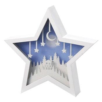 【あす楽対応】[松野ホビー]LEDオルゴールアイコン(スター)XM-7058【クリスマス光るおしゃれ置物飾りインテリア】