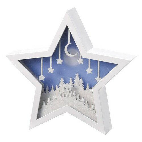 【あす楽対応】松野ホビー LEDオルゴールアイコン スター XM-7058【クリスマス 雑貨 光る おしゃれ 置物 飾り 北欧 インテリア プレゼント LED フレーム】