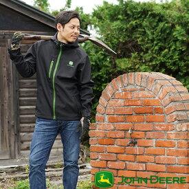 John Deere ジョンディア シェルパーカージャケット LP-0008-BK ヤッケパーカー ウィンドブレーカー ウインドブレーカー メンズ おしゃれ 男性 用 ストレッチ 撥水 農業 ガーデニング 農作業 園芸 農作業着 野良着 プレゼント ギフト アウトドア 大きいサイズ T志 代引不可