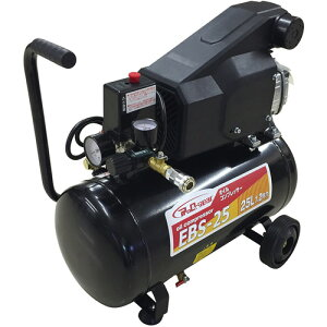 オイル式 エアーコンプレッサー 100v 25L EBS-25 シンセイ 小型 タイヤ 空気入れ DIY コンパクト シN直送