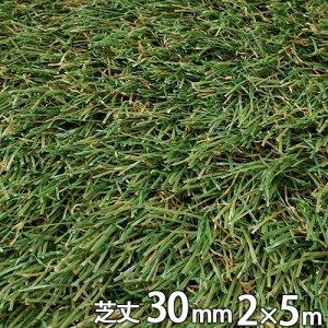 リアル 人工芝 つや消し 芝丈30mm 2m×5m シンセイ 芝生マット 家 庭 ベランダ テラス バルコニー ガーデニング ガーデン 雑草 対策 ドッグラン シN直送