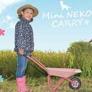 一輪車 子供用 ミニねこきゃりー KTA-1CH 組立式 ピンク 子供 外遊び おもちゃ 運搬 ガーデニング 農業 家庭菜園 アウトドア プレゼント 和コーポレーション Z