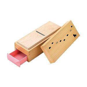 鰹箱 ねことさかな 鰹節 削り器 木製 日本製 かつ箱 かつお節削り かわいい 01008 小柳産業 H