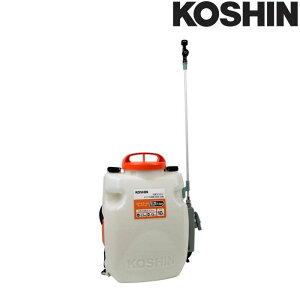充電式噴霧器 SLS-10 容量10L [縦型二頭口 / カバー付泡状除草噴口] 重量3.5kg 工進 KOSHIN 背負式 除草 消毒 散布 シB 代引不可