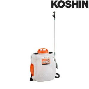充電式噴霧器 SLS-7N 容量7L [縦型二頭口噴口 / 泡状除草噴口] (バッテリー・充電器なし) 重量3.3kg 工進 KOSHIN 背負式 除草 消毒 散布 シB 代引不可