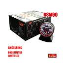 オートゲージ ブースト計 RSM 60Φ エンジェルリング ホワイトLED 加圧 ターボ タービン ブロー ブースト コン…