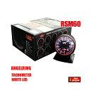 オートゲージ タコメーター RSM 60Φ エンジェルリング ホワイト LED 回転数 追加メーター ゼロヨン オーバーレ…