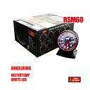 オートゲージ 水温計 RSM 60Φ エンジェルリング ホワイト LED 冷却水 温度 オーバー・ヒート・クール 即納 送…