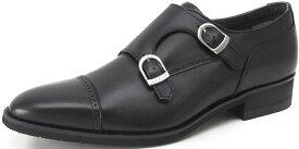 靴 メンズ ビジネスシューズ 紳士靴 リーガル REGAL 37HR BB ダブルモンクストラップ(GORE-TEX フットウェア)