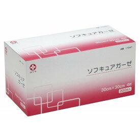 白十字 ソフキュアガーゼ 30×30cm 4折 200枚入 医療用不織布ガーゼ