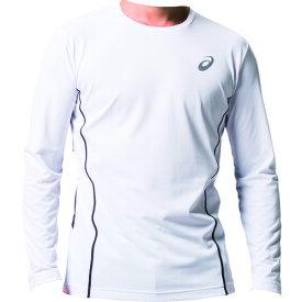 アシックス ウィンジョブロングスリーブシャツ ブリリアントホワイト/ダークグレー M