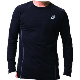 アシックス ウィンジョブロングスリーブシャツ パフォーマンスブラック/ダークグレー XL