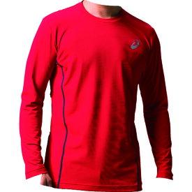 アシックス ウィンジョブロングスリーブシャツ クラシックレッド/ダークグレー XL