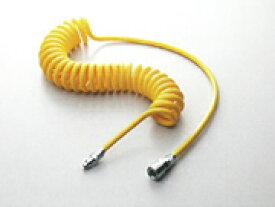 プラス・テク エアホース テクノコイル(ウレタンコイル) カプラ金具付 CO-65105 全長5m