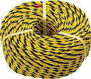 TRUSCO 標識ロープ 3つ打 線径10mmX長さ50m R1250T