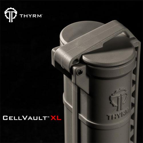 在庫販売 THYRM サイリム CELL VAULT XL Battery Storage 防水バッテリーケース大 IPX8相当 CR123A、単3、単4用 USA製
