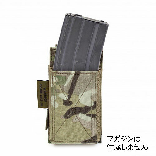 在庫販売 実物 WARRIOR ASSAULT SYSTEMS WAS Single Elastic Mag Pouch シングル エラスティック 伸縮性ゴム マグポーチ M4マガジン対応 MOLLE対応 W-EO-SEMP