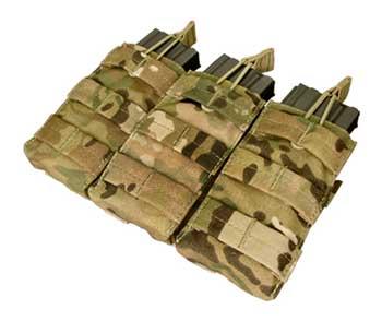 在庫販売 CONDOR コンドル タクティカルギア MA27 トリプル M4/M16オープンマグポーチ マルチカモ