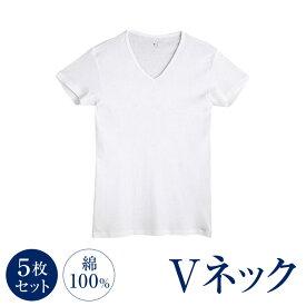YV0015-5SET 5枚セット 綿100% VネックTシャツ グンゼ YG メンズインナー 半袖 サイズ M・L・LL カラー ホワイト 送料無料 北海道・沖縄・離島は一部負担