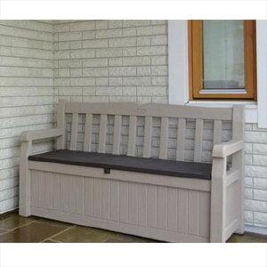 【送料無料】【メーカ直送】エデンガーデンベンチ オシャレ 収納付き 屋外 樹脂製 収納庫 かわいい EDEN GARDEN BENCH