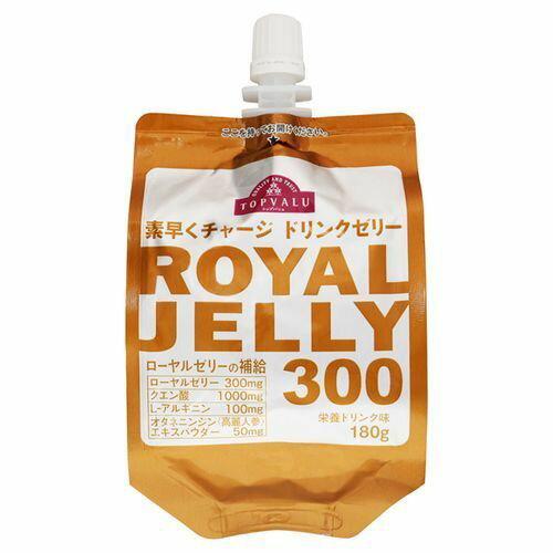 トップバリュ 素早くチャージ ドリンクゼリー ROYAL JELLY 300 栄養ドリンク味 180G 24個セット【ケース販売】
