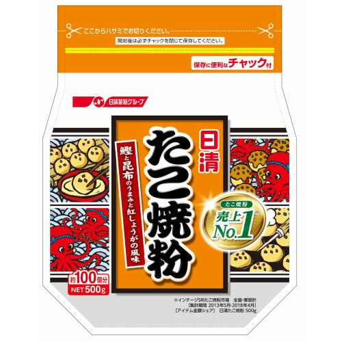 日清フーズ たこ焼粉 500G×6個セット