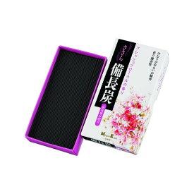 日本香堂 ささら備長炭 フレッシュフローラル バラ詰 約100G 線香