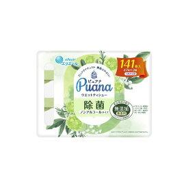 大王製紙 エリエール ピュアナ ウエットティシュー 除菌ノンアルコール 詰め替え 47枚×3P ウエットティシュー