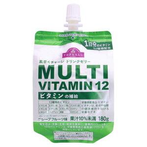 イオン ドリンクゼリーマルチビタミン12 グレープフルーツ味 180G×24個セット