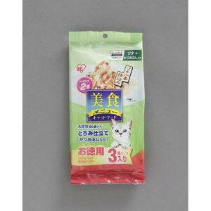 アイリスオーヤマ 美食メニューツナ一本仕込み かつおぶし入りとろみ仕立て 60G×3
