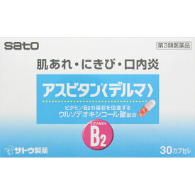 【あす楽】【第3類医薬品】アスビタン〈デルマ〉 30カプセル