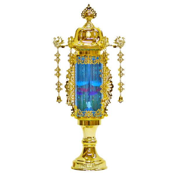【小型灯・盆提灯/ちょうちん】11号バブル灯(ブルー) 1対【HLS_DU】【RCP】