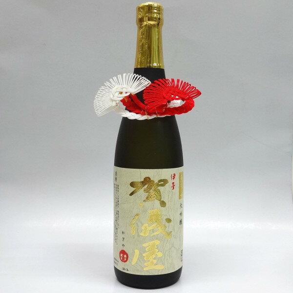 お酒・ワインの瓶飾り 小丸紅白松