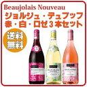【送料無料】ボジョレー・ヌーヴォー2017 デュブッフ赤・白・ロゼ飲みくらべセット