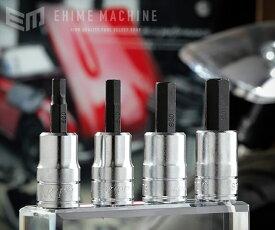 【6月の特価品】KTC 9.5sq. ショートヘキサゴンビットソケット4点セット BT3-S-4P(BT3-05S,06S,08S,10S)