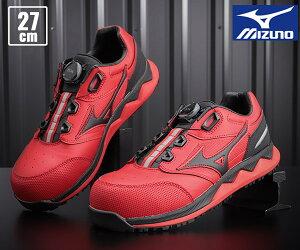 【新商品】 ミズノ 安全靴 F1GA210462 27.0cm レッドxブラック オールマイティ HW52L ワーキングシューズ 2021春夏
