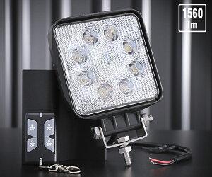 カシムラ LEDワークライト 角 8灯 黄色/白色 リモコン付 作業灯 DC12/24V車対応 24W 1560lm ML-20