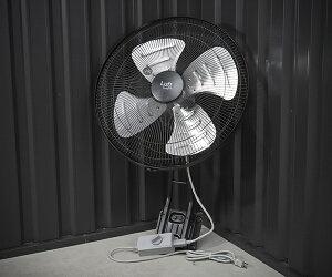 TRUSCO 全閉式工場扇 ルフトハーフェン壁掛タイプ 高耐久アルミハネ ブラック TFLHA-45W-BK トラスコ