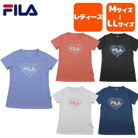 Fila (フィラ) 半袖Tシャツ レディース 吸汗速乾 フィットネス ランニング ジム テニス 運動 体育 かわいい カラー豊富 ポリエステル100% fl5174
