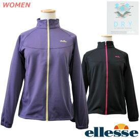 ellesse (エレッセ) レディース ウォームアップジャケット テニス ランニング フィットネス UVカット ポリエステル100% 紫外線対策 吸汗速乾 ew8400n