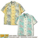 "SUN SURF アロハシャツ COTTON/LINEN SLUBYARN OPEN SHIRT ""PINEAPPLE CHAIN BORDER"" [SS38108] サンサーフ 東洋エン…"